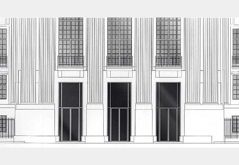 Detail der Fassade