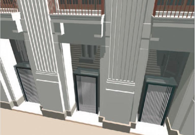 Fassade in 3D-Visalisierung