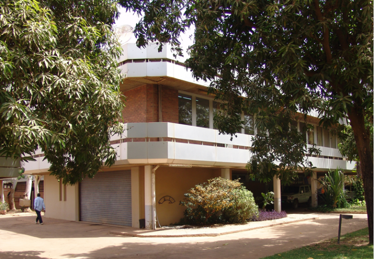 The embassy building