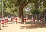 Einfahrt zum Botschaftsgelände - Vorfeldsicherung