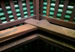 Dachkonstruktion ebenfalls aus Teakholz